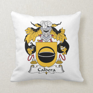 Caldera Family Crest Throw Pillow