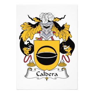 Caldera Family Crest Personalized Announcement
