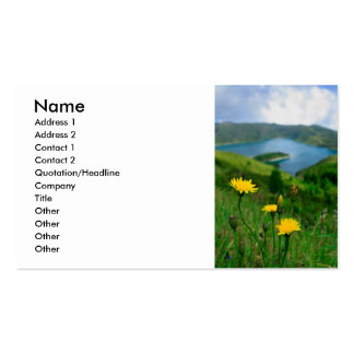 Caldera lake in Azores islands Pack Of Standard Business Cards