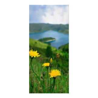Caldera lake in Azores islands Custom Rack Cards