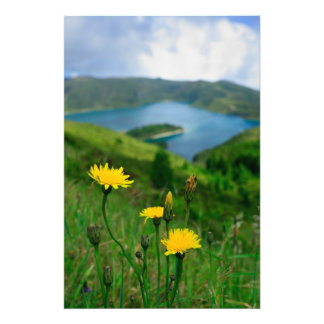 Caldera lake in Azores islands Photographic Print