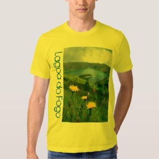 Caldera lake in Azores islands T Shirt
