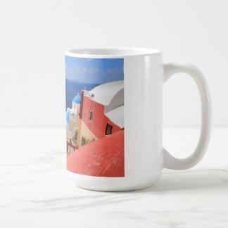 Caldera, Oia, Santorini, Greece Basic White Mug