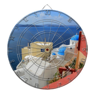 Caldera, Oia, Santorini, Greece Dart Boards
