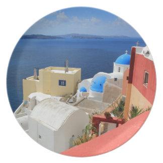 Caldera, Oia, Santorini, Greece Dinner Plate