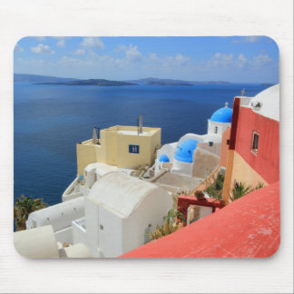 Caldera, Oia, Santorini, Greece Mouse Pad