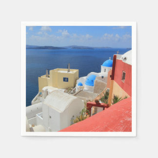 Caldera, Oia, Santorini, Greece Paper Napkin