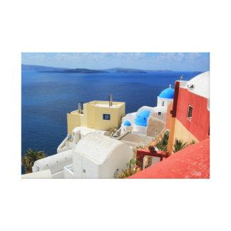 Caldera, Oia, Santorini, Greece Stretched Canvas Prints