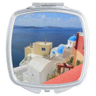 Caldera, Oia, Santorini, Greece Vanity Mirror