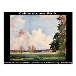 Calderstones Park, Allerton, Liverpool. Postcard