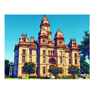 Caldwell County Courthouse, Lockhart, TX. Postcard