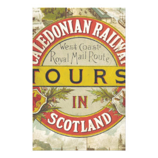 Caledonian Railway. Tours in Scotland. Personalised Stationery