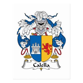 Calella Family Crest Postcard
