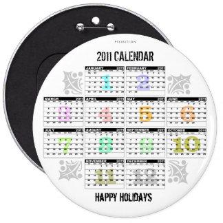 """Calendar 2011 Button 6"""""""