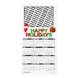 Calendar 2011 Happy Holidays Photo Card Add Image