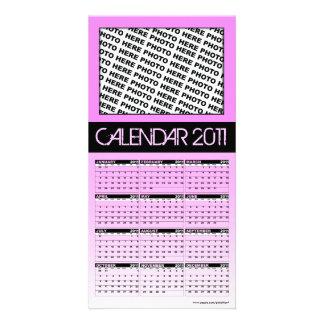 Calendar 2011 Photo Card Pink