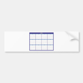 Calendar 2013 English Bumper Sticker