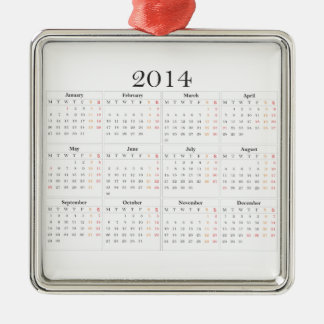 calendar 2014 Great Britain Ornaments