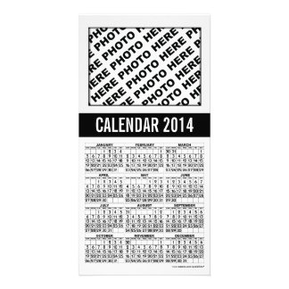 Calendar 2014 Photo Card Black White 1