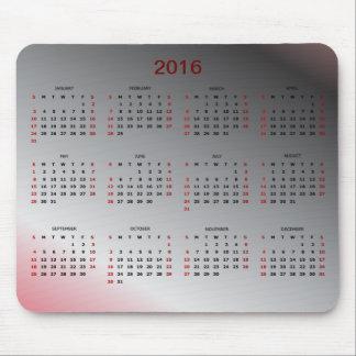 Calendar 2016 mouse pad