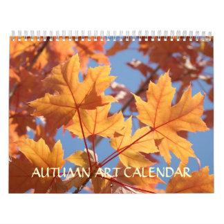 CALENDAR  AUTUMN Calendars FALL ART Leaves