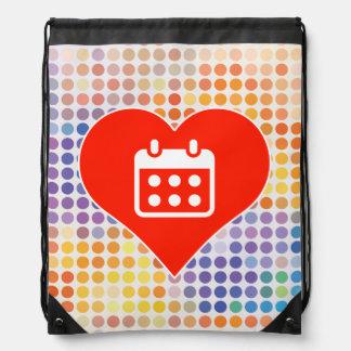 Calendar Fan Drawstring Backpacks