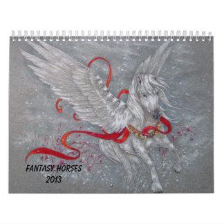 Calendar -- Fantasy Horses 2013