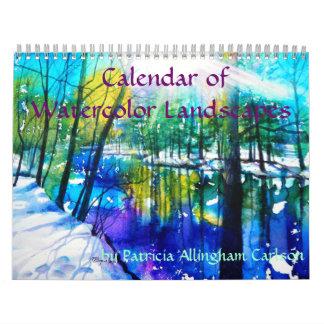 Calendar of Watercolor Landscapes