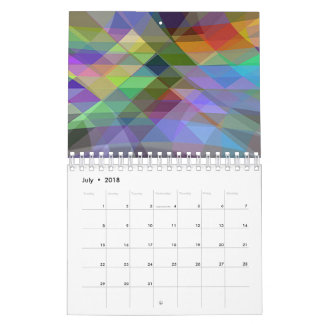 Calendar prints abstract