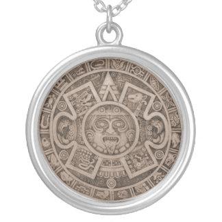 Calendario Silver Plated Necklace