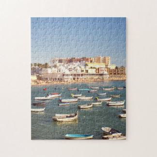 Caleta Beach In Cadiz, Andalusia, Spain Jigsaw Puzzle