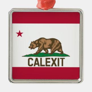 CALEXIT California Bear Flag Christmas Ornament
