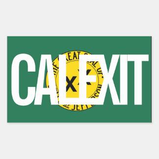 CALEXIT State of Jefferson Rectangular Sticker