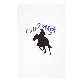 CALF ROPING CUSTOM STATIONERY