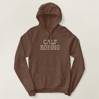 Calf Roping Embroidered Hooded Sweatshirts