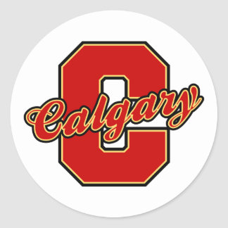 Calgary Letter Classic Round Sticker