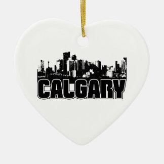 Calgary Skyline Christmas Ornament