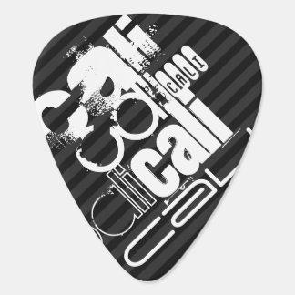 Cali; Black & Dark Gray Stripes Guitar Pick