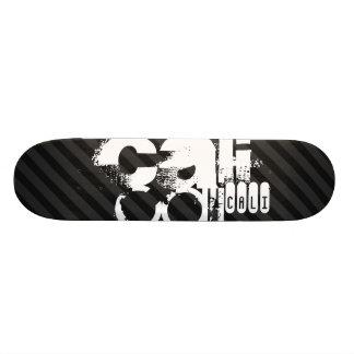 Cali; Black & Dark Gray Stripes Skate Board Decks