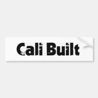 Cali Built bumper sale Bumper Sticker