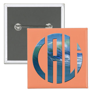 Cali Circle Wave Logo (Dark) 15 Cm Square Badge