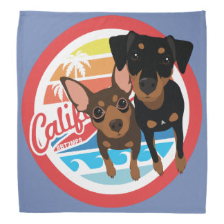 Cali Dog Min Pin Bandanna