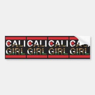 Cali Girl Rep Red Bumper Sticker