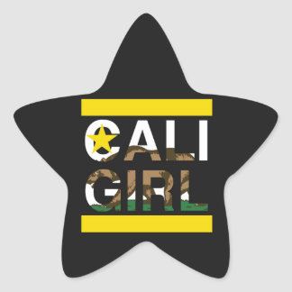 Cali Girl Rep Yellow Star Sticker