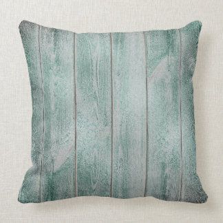 Cali Green Gray Glam Metallic Wood Cottage Home Cushion