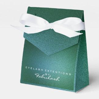 Cali Green Metallic Name Branding Beauty Salon Favour Box