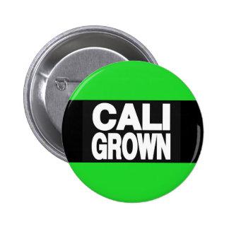 Cali Grown 2 Green 6 Cm Round Badge