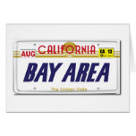 Cali License Plates Greeting Card