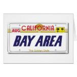Cali License Plates Greeting Card