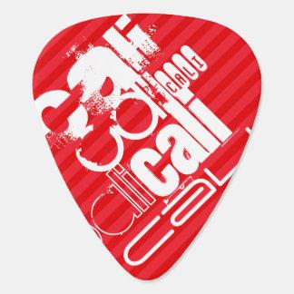 Cali; Scarlet Red Stripes Guitar Pick
